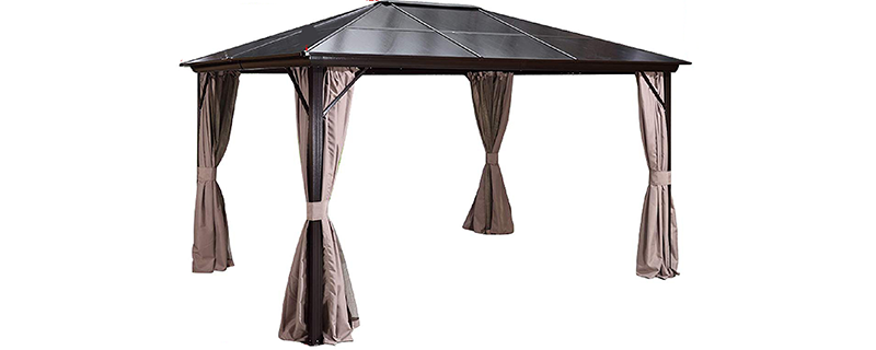 Erommy Double Layer Sidewall Gazebo