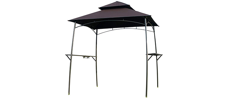 Feelway Iron Mesh Shelves Grill Gazebo