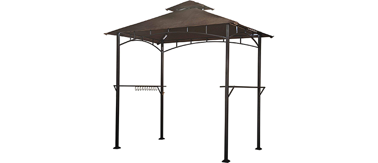 Sunjoy Double Tiered Canopy Grill Gazebo